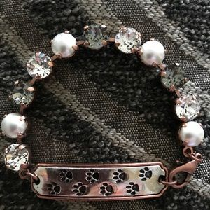 Handmade Swarovski bracelet for the dog lover